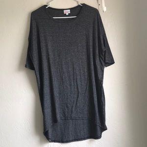 Lularoe gray Black high low shirt dress size small